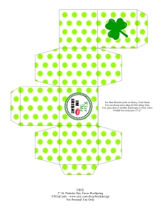Free St. Patrick's Day Favor Box